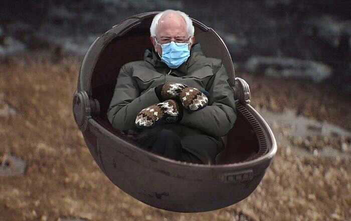 Photograph Of Bernie Sanders Sporting Mittens At Inauguration Turns Into Cash Maker